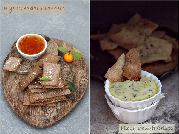 Rye Cheddar Crackers & Pizza Dough Crisps