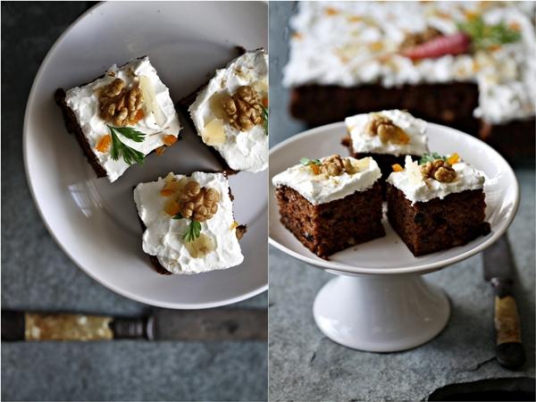 Carrot Walnut Cake with Mascarpone Frosting