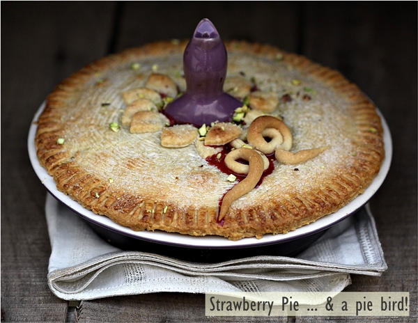 Strawberry Pie ... & a pie bird