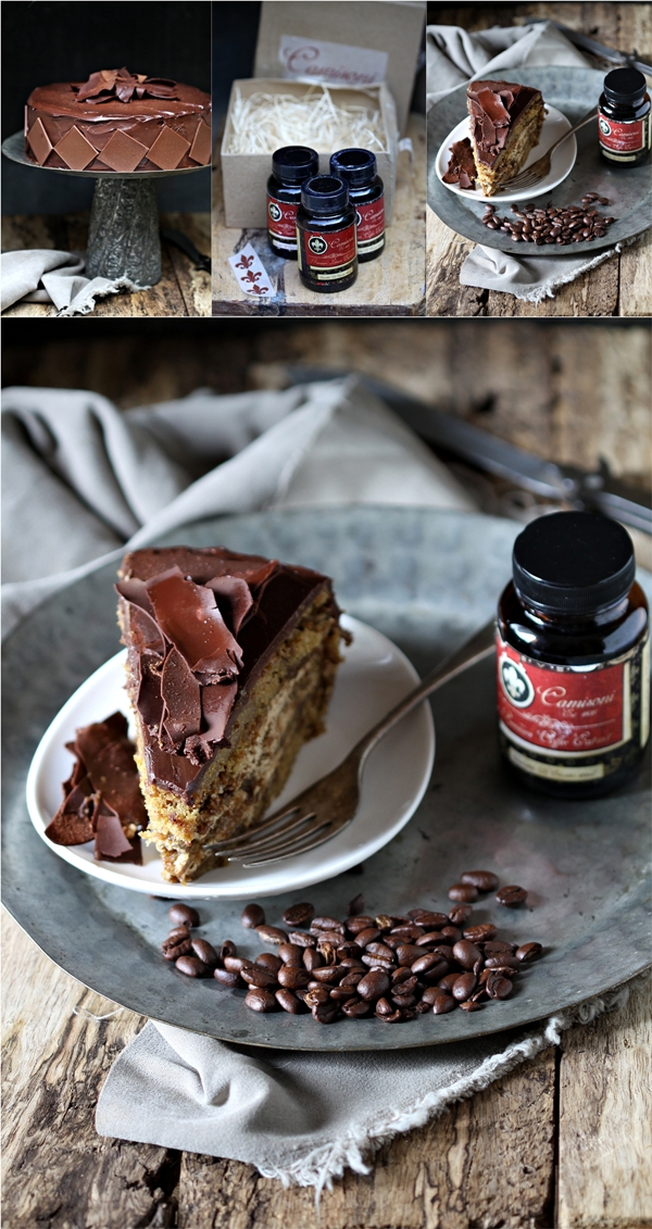 Layered Coffee & Cream Cake