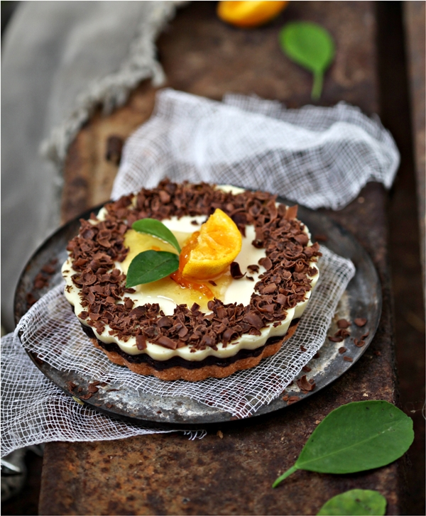 Dark Chocolate Orange Yogurt Eggless Cheesecake 7