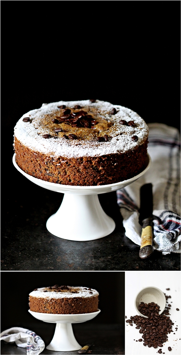 Whole wheat coffee dark chocolate pound cake