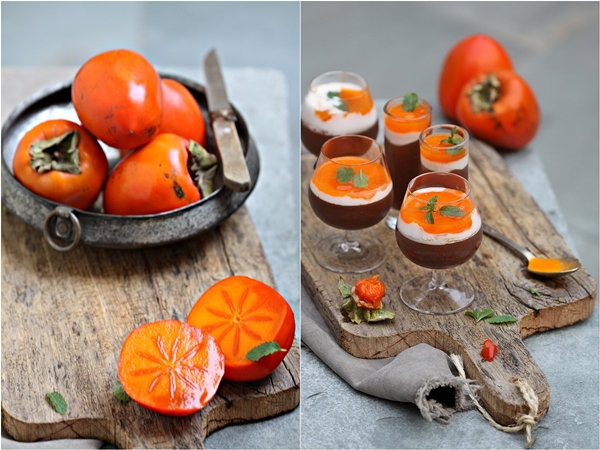 Dark Chocolate & Persimmon Mousse