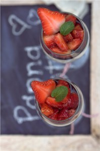 Buttermilk Vanilla Bean Panna Cotta with Balsamic Strawberries