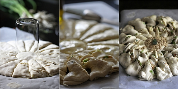 Savoury  Hungarian Kalács, Twisted Buns; bread art with the Daring Bakers