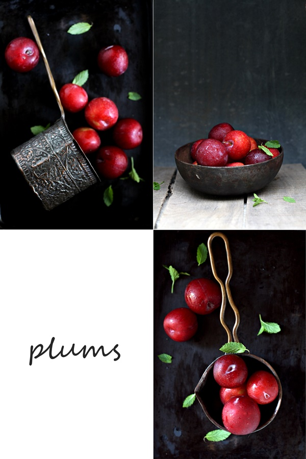 resh plums, summer stone fruit
