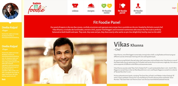 Saffola Fit Foodie Panel
