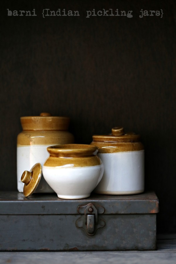Barnis {Indian Pickling Jars}