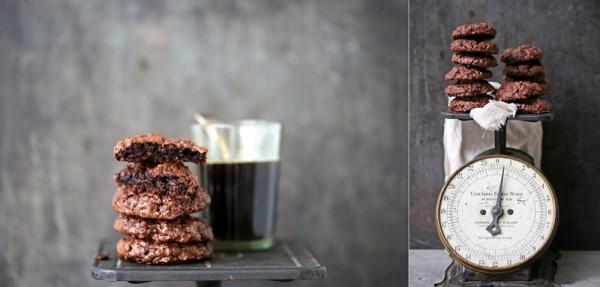 Wholewheat & Oat Dark Chocolate Brownie Cookies