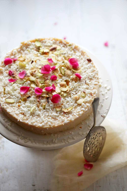 Mishti Doi Eggless Baked Cheesecake