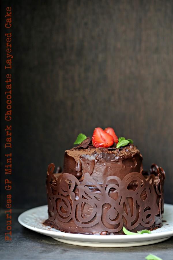 Baking | Flourless GF Mini Dark Chocolate Layered Cake ... #chocolate ...