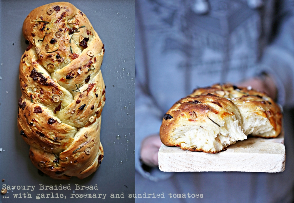 Savoury Braided Bread ... with garlic, rosemary and sundried tomatoes