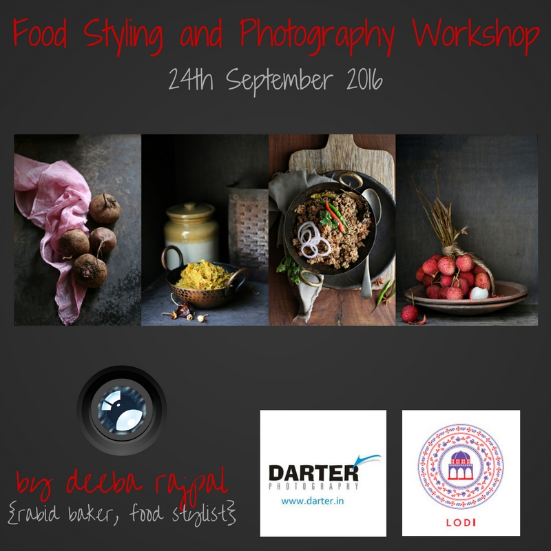 Food Styling and Photography Workshop Sep 2016