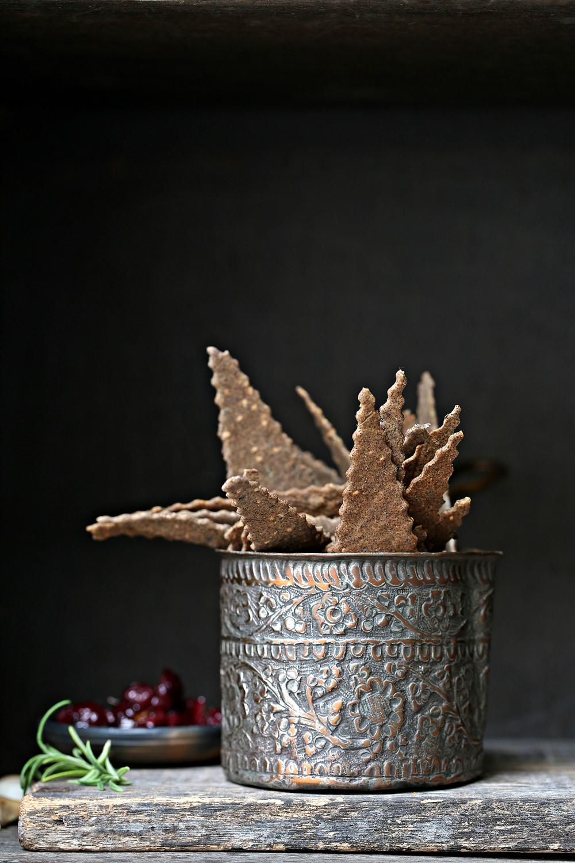 Rosemary Garlic Sesame Millet Crackers with Lovilovi and Bird's Eye Sweet Chili Pickle