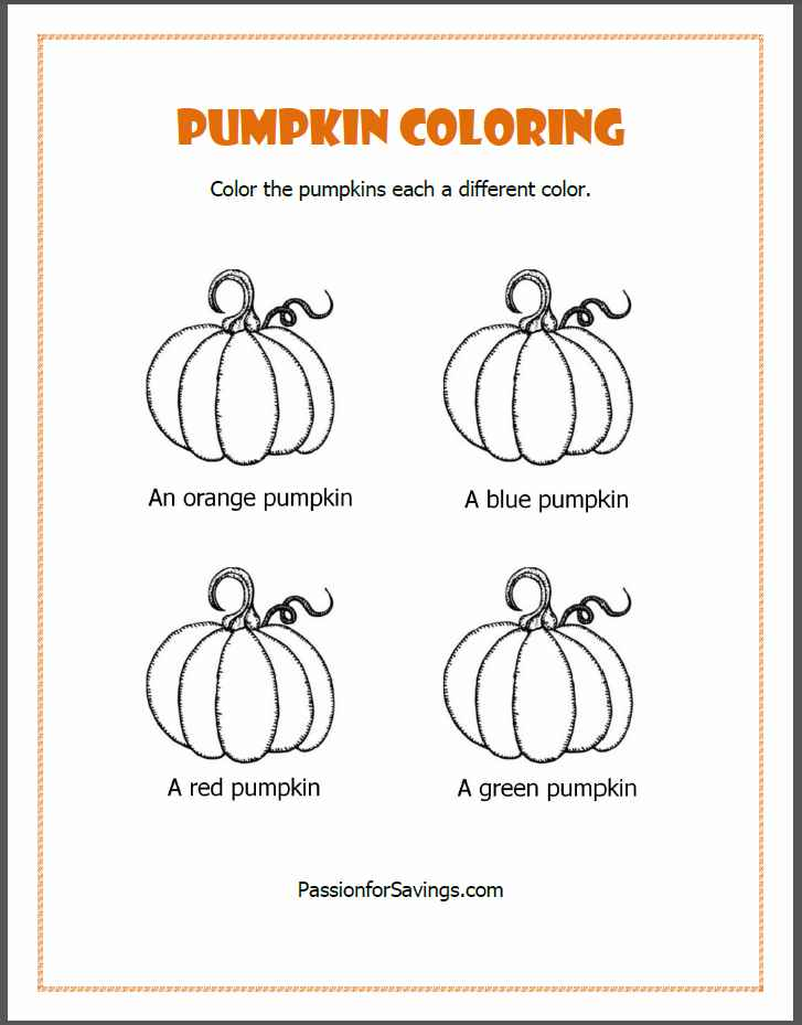 Free Fall Printables for Kids Pumpkin Coloring Pages  More