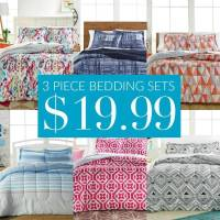 3 Piece Macy's Comforter Sets $19.99! Perfect for College!