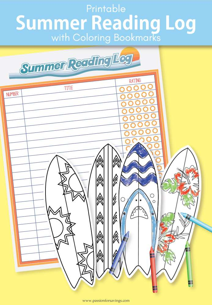 Free Printable Summer Reading Chart for Kids! - Passion for Savings
