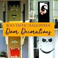 15 DIY Halloween Door Decorations for Home or Classrooms!