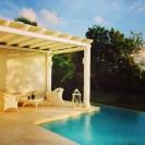 Private pool at dawn