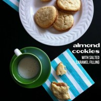 Almond Cookies with Salted Caramel Filling