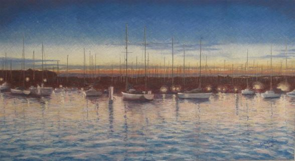 Dave Conlin - Yarmouth Harbour Isle of Wight at Dusk