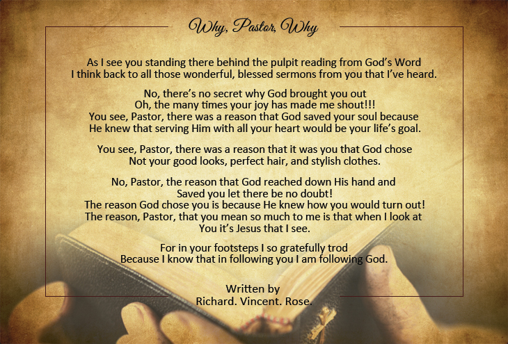 Pastor Appreciation Poems Pastor-Gifts