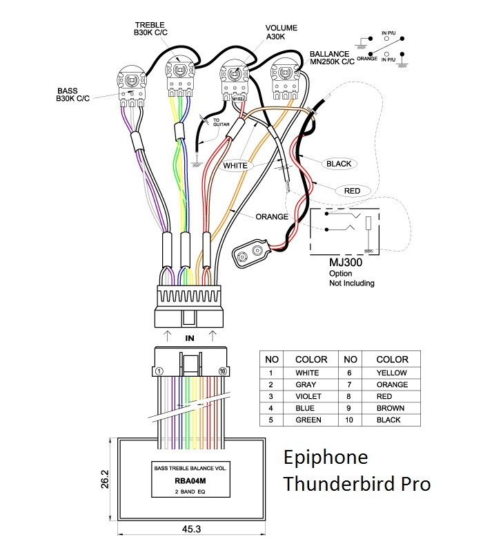 epiphone thunderbird bass wiring diagram