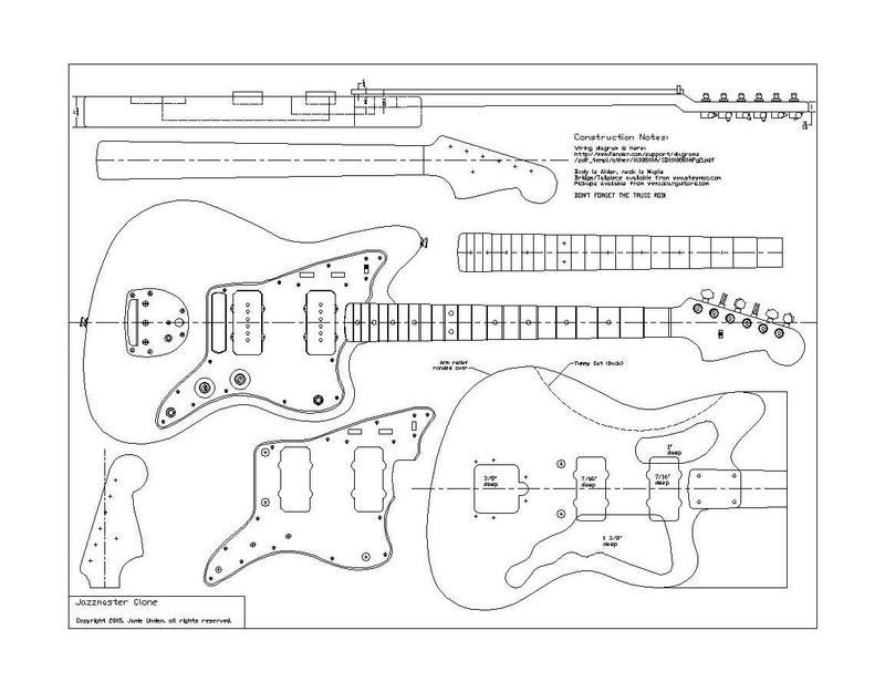 Fender Bass Vi Wiring Diagram Planos Fender 62 Jazzmaster Pastrana Guitars