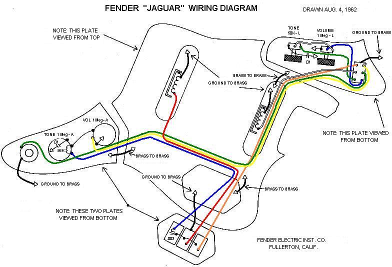 Fender Jaguar B Wiring Kit Wiring Diagram