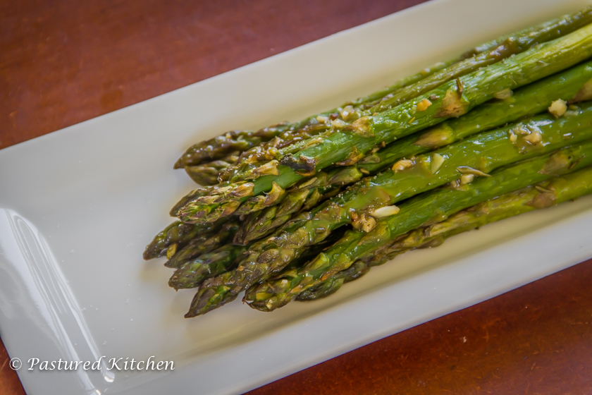 Duck fat and herb roasted asparagus pastured kitchen for Primal kitchen south bend