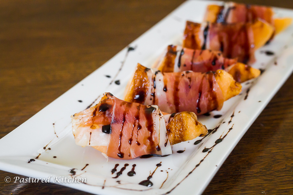 Prosciutto Wrapped Melon | Pastured Kitchen