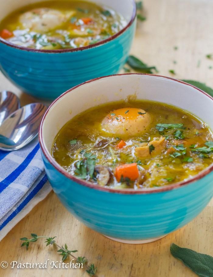Paleo Chicken Noodle Soup From Scratch Pastured Kitchen