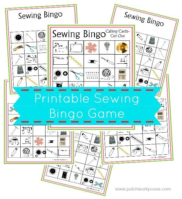 Sewing Bingo Printable Boards -