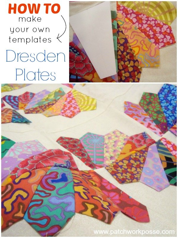 How to make your own dresden plate templates