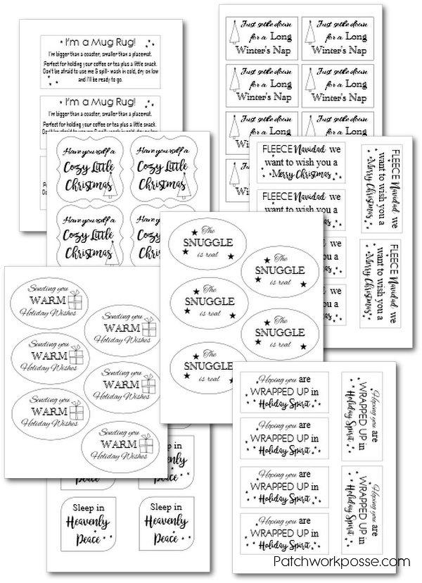 Blanket Gift Tag Printable - 8 templates! -