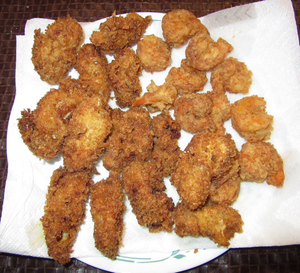 Fried Oysters and Shrimp