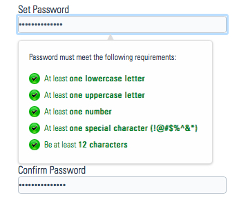 Screenshot USPTO Password