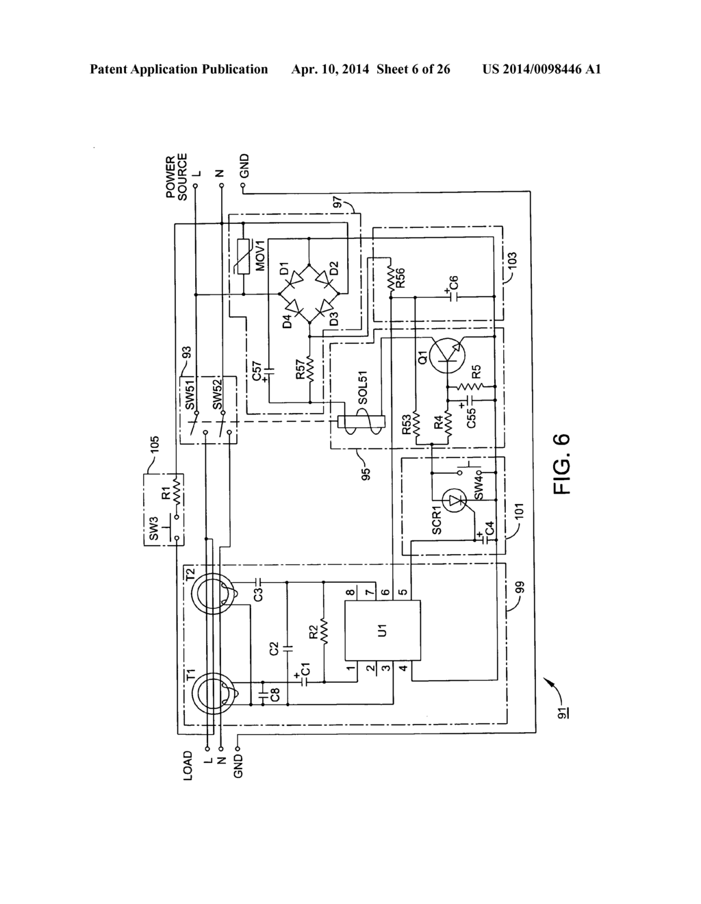 wiring diagram for ground fault receptacle