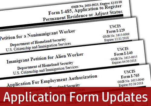 USCIS Issues Updated Forms and Fee Increases - citizenship application form