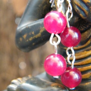 Detail of red agate beads