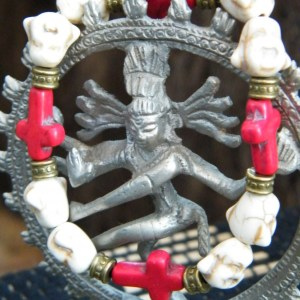 Buddha and Red Cross Bracelet.