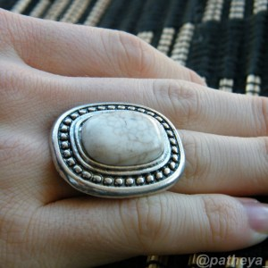 White Statement Ring