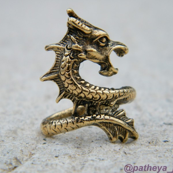 Bronze toned dragon