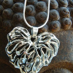 Silver Filigree Heart