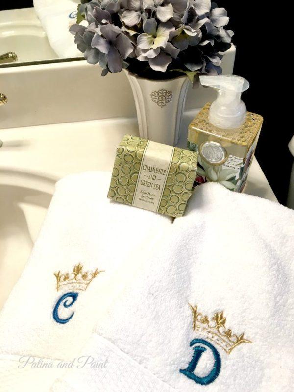 monogram towels 2