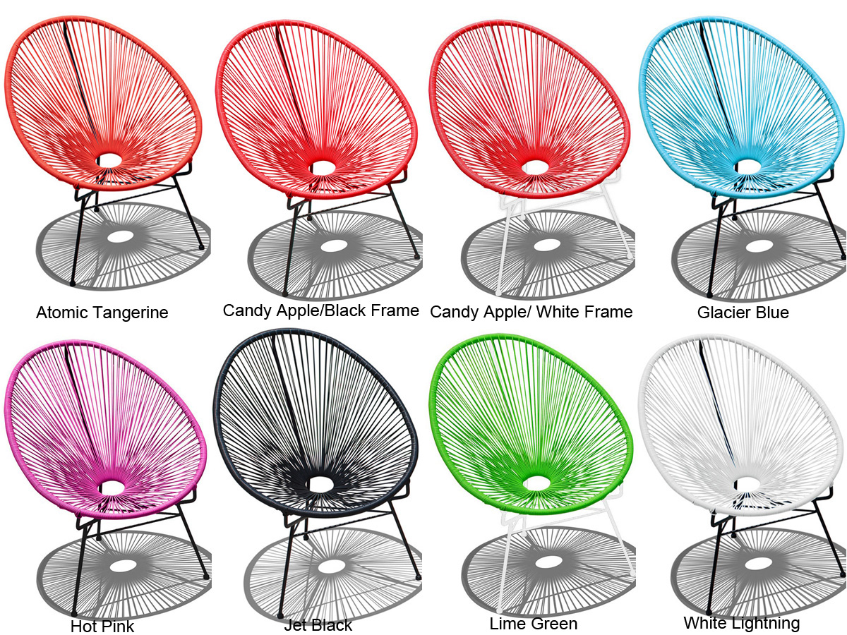 Multi colored acapulco chairs