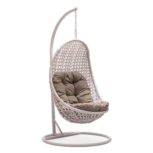 7 of the coolest outdoor wicker hanging chairs
