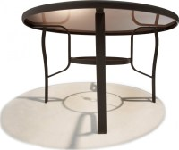 Strathwood Rawley 48-Inch Round Dining Table - Patio Table