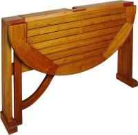 Terrace Mates Caleo Half Round Folding Patio Table - Patio ...
