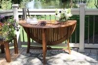 Outdoor Interiors 48-Inch Round Folding Table - Patio Table